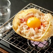 特選カニ味噌甲羅焼き