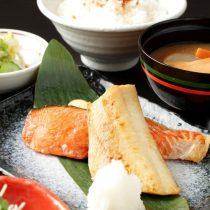 鮭とほっけの味噌漬け焼き定食