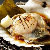 オホーツク天然活帆立貝の磯焼き