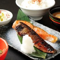 鮭とにしん味噌漬け焼き定食
