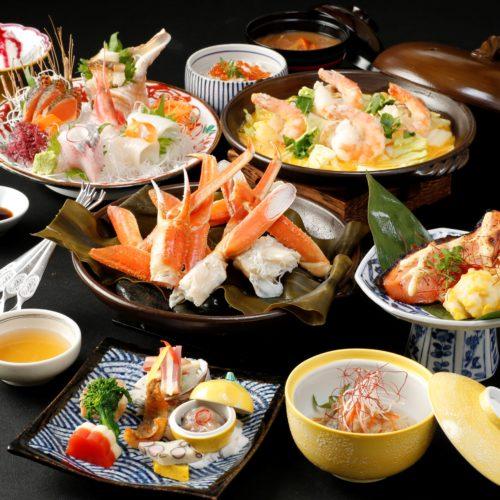 本ズワイ蟹酒蒸しと海鮮贅沢三昧コース